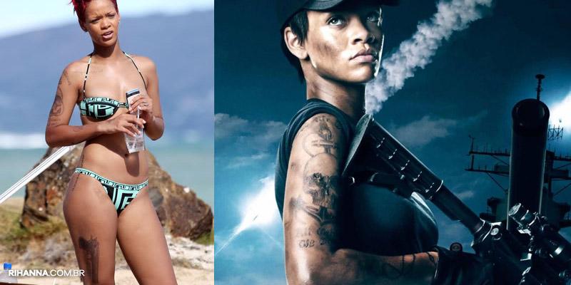 Rihanna tatuagem Battleship