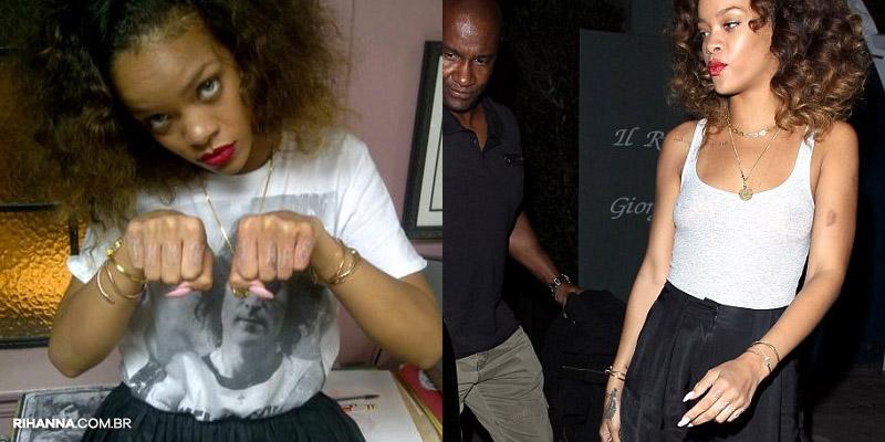 Rihanna tatuagem Thug Life
