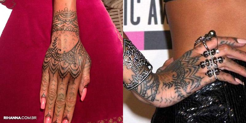 Rihanna tatuagem tribal