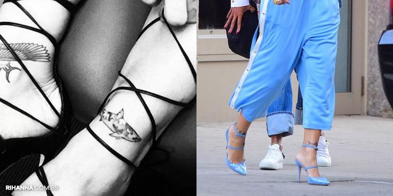 Rihanna tatuagem tubarão