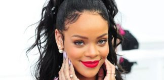 Rihanna usando seda - Dior