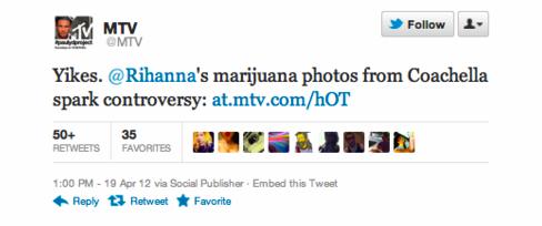 Tweet da MTV